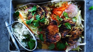 Indonesian-style barbecue chicken