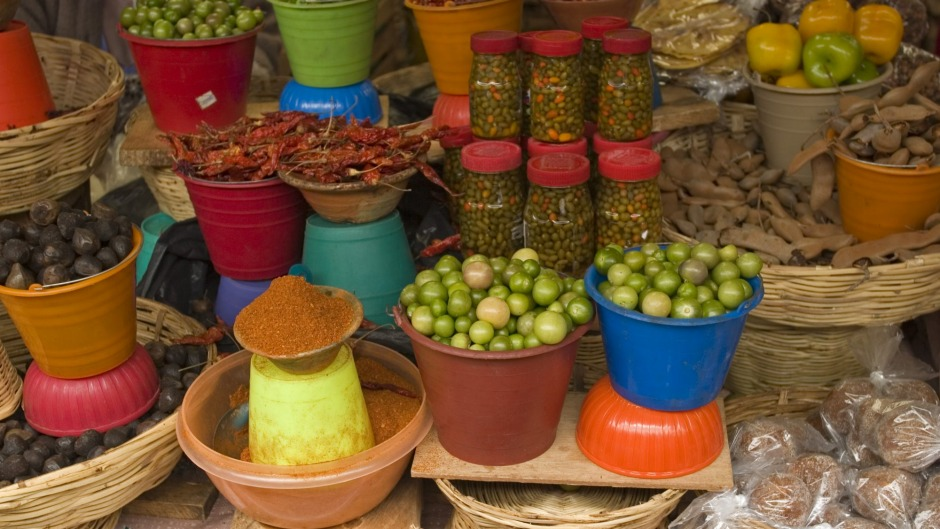 Authentic ingredients: A market scene in Chiapas, Mexico.