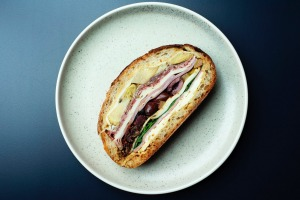 Muffaletta sandwich at A1 Canteen in Chippendale, Sydney.