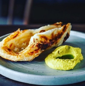 House-made paratha bread with dahl butter at The Pot by Emma McCaskill, Adelaide