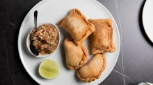 Citrico's empanadas come with various fillings, including beef, pork braised in orange, and potato, leek and feta.