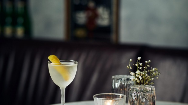 The classic martini served The Mayfair in Melbourne.