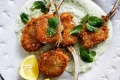 Danielle Alvarez's crowd-pleasing crumbed lamb cutlets with minted yoghurt.