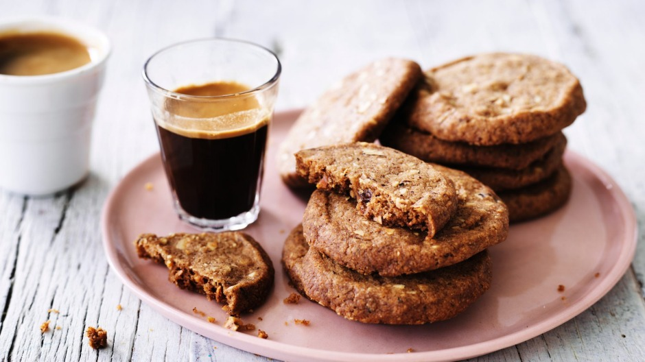 Have a batch of hazelnut and coffee biscuits on hand for when friends visit.