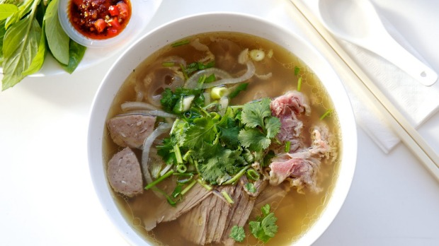 Good Food. Bo 7 Mon Thanh Tam Level 3, Market City, 8-9 Hay St, Haymarket. Pho Bo. Beef Noodle Soup and a Vietnamese coffee.  Photo: Edwina Pickles. 13th May 2014.