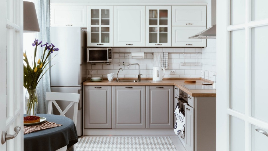 Organisation is key in any good uncluttered kitchen.