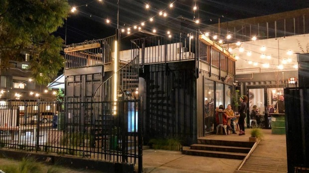 Small but perfectly formed: Benzina Cantina and its fairylit rooftop.