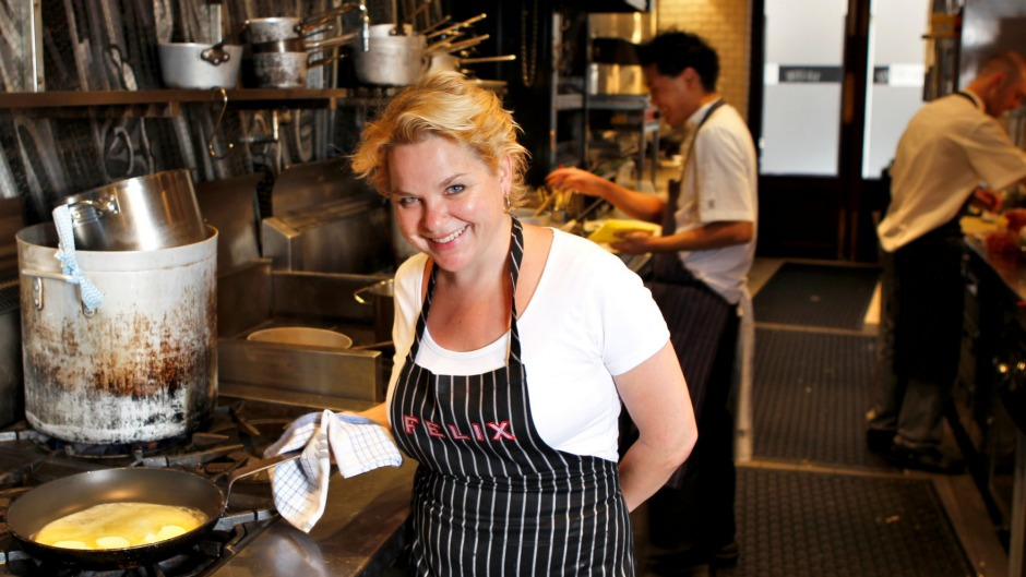 Lauren Murdoch, seen at Felix in 2012, says her strength is 'being in the kitchen rather than the office'.