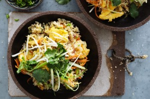 Kylie Kwong's vegetarian fried rice with sesame.