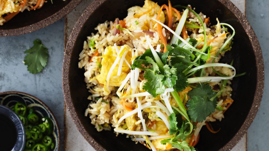 Vegetarian-friendly fried rice with sesame.