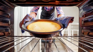 Many domestic ovens have a hot spot and you may need to turn cake tins midway through baking.