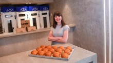 Kate Reid at her new Lune Croissanterie in the city.