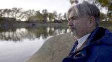 Stefano de Pieri on the banks of the Murray.