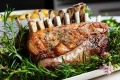 Chef Peter Gilmore's roast rack of lamb with rosemary salt recipe.