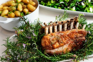 Peter Gilmore's Sunday roast recipes for Good Food including roast rack of lamb with rosemary salt, kipfler potatoes and ...