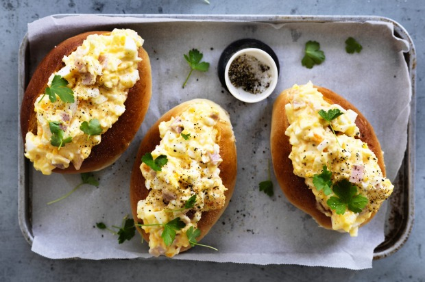 Adam Liaw's carbonara sandwiches <a ...