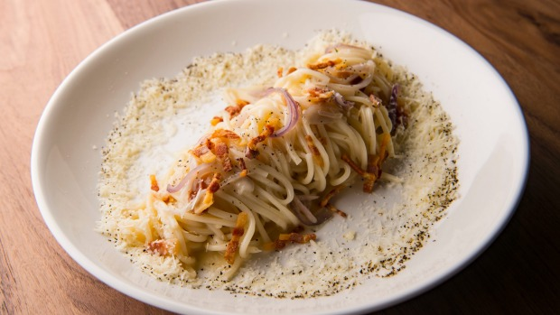 Go to dish: House-made bucatini alla gricia.