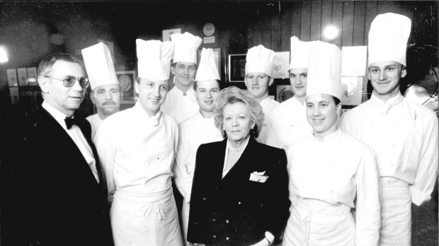 Gloria Staley with the team at Fanny's Restaurant in 1984.