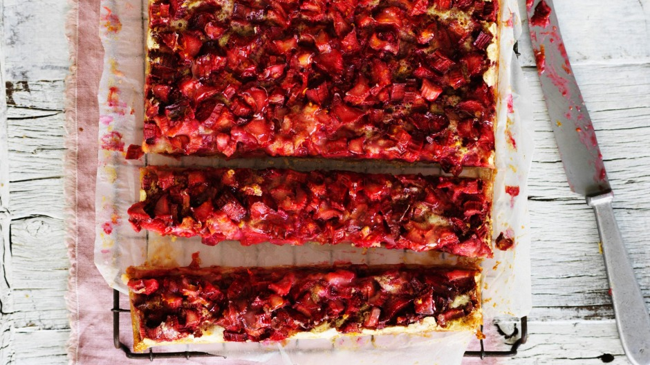 Helen Goh's rhubarb-and-custard-inspired bars.