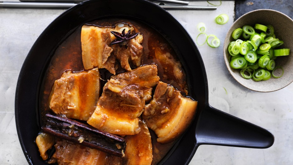 Pork belly (pictured) also works in this recipe.