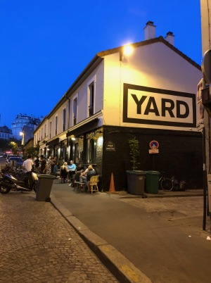 Yard wine bar, Paris.