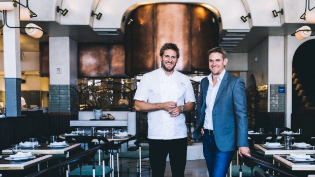 Stateside: Curtis (left) and Luke Stone at their Los Angeles restaurant Gwen.