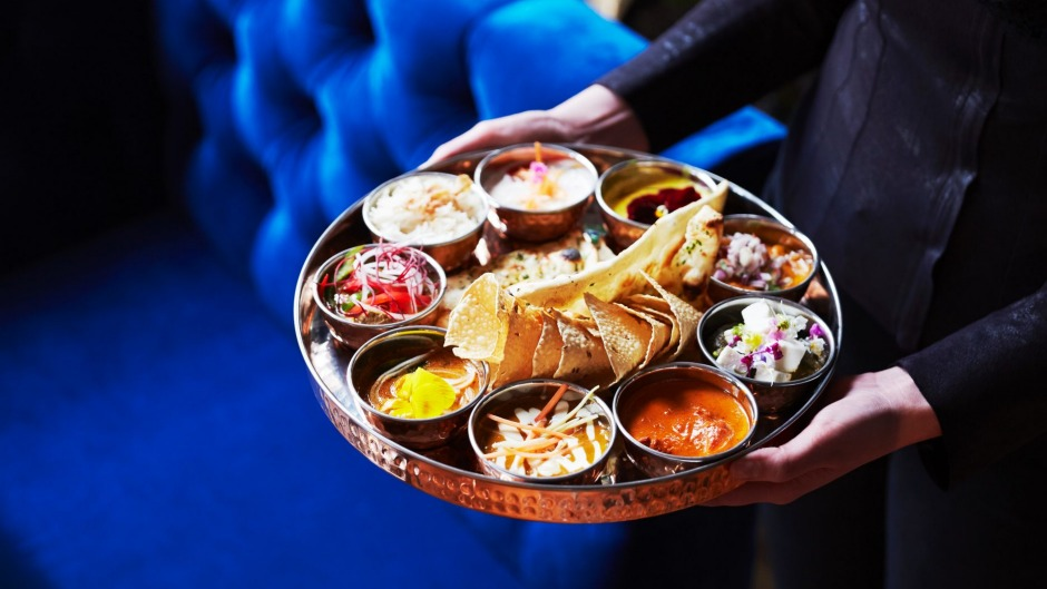 The curry tasting platter.