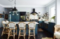 Sibella's kitchen features blue walls, handmade Moroccan tile splashback and open storage – so her favourite pieces can ...