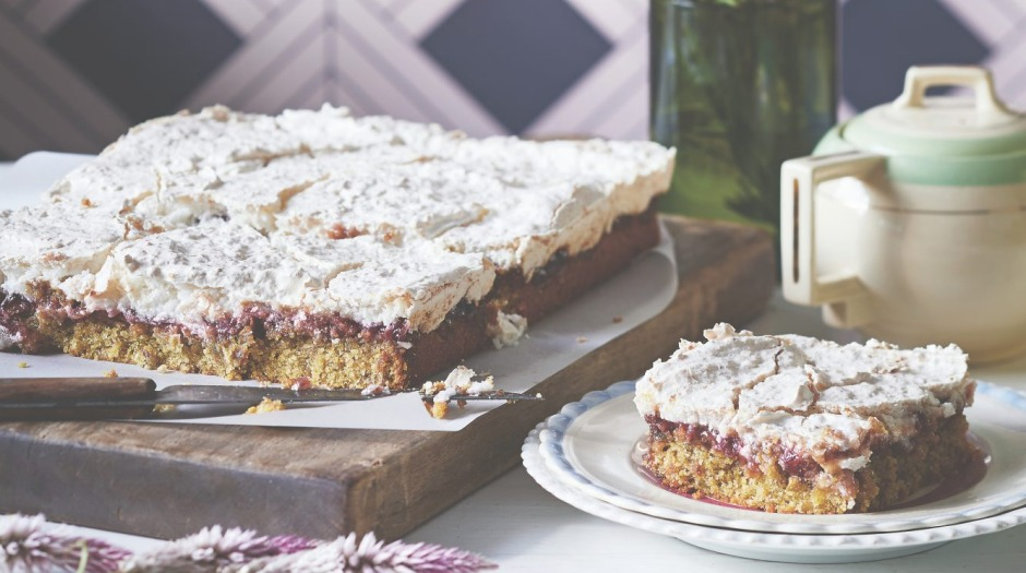 Consider baking a slab cake, like this pistachio Louise cake (recipe below).
