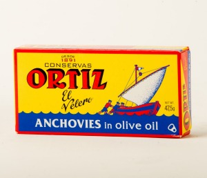 Ortiz anchovies in olive oil.