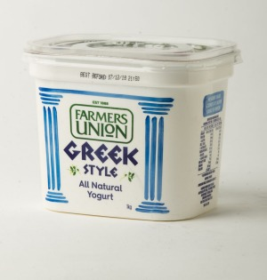 Farmers' Union Greek style yoghurt.