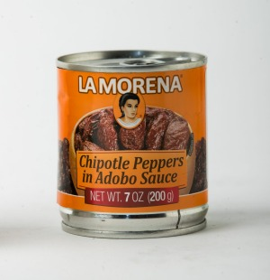 La Morena chipotle peppers in adobo sauce.