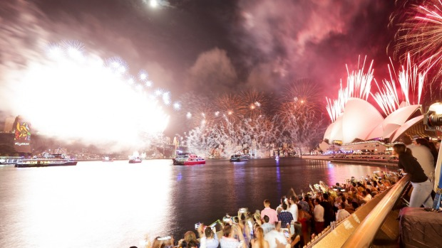 Pictured is the Opera Bar Beach Party held on the Sunday 31st of December 2017. Picture: Christian Gilles New Year's Eve at the Sydney Opera House - PR supplied pic for Good Food promotion Contact The Cru for reuse permissions