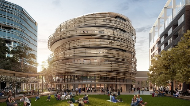 A render of the new building coming to Darling Square.