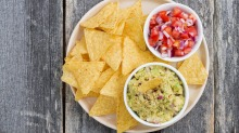 Mexicans never dip their corn chips into the salsa or guacamole.