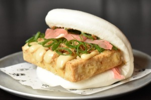 A vegan bao at the Night Noodle Markets. Tasty looking, right?