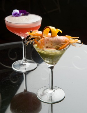 Prawn cocktail (right) at Madame Brussels.