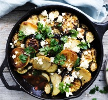 Greek roasted vegetables with feta