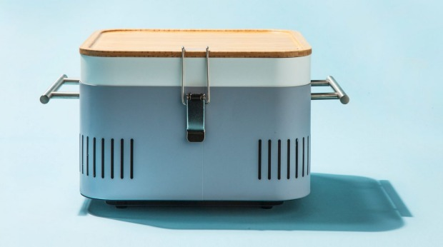 The portable Heston Blumenthal charcoal-fuelled Cube.