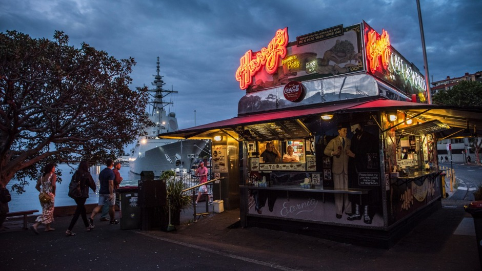Harry's Cafe de Wheels has served pies by the naval dockyard for more than 73 years.