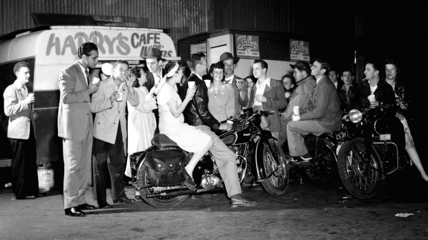 Good times at Harry's Cafe De Wheels in March 1949.