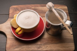 Colombian-style hot chocolate served with mozzarella.