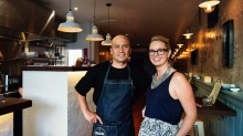 Darrien and Philippa Potaka  of the Bach Eatery in Newtown.