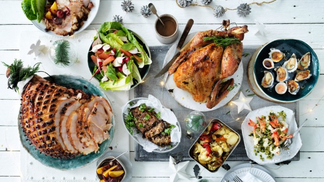 Feast your eyes on this festive meal.