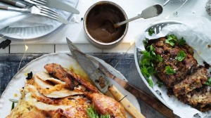 Jill Dupleix's dry-brined turkey with umami-rich Vegemite gravy and stuffing.