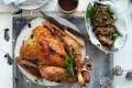 Jill Dupleix's dry-brined turkey with herb and lemon stuffing and Vegemite gravy.