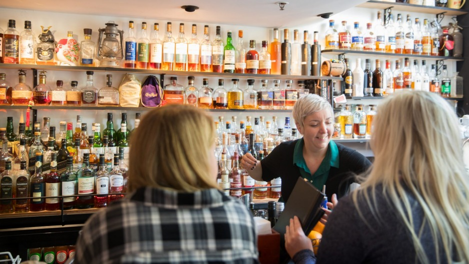 Whisky Den, a light-filled laidback specialist bar with more than 350 whiskies.