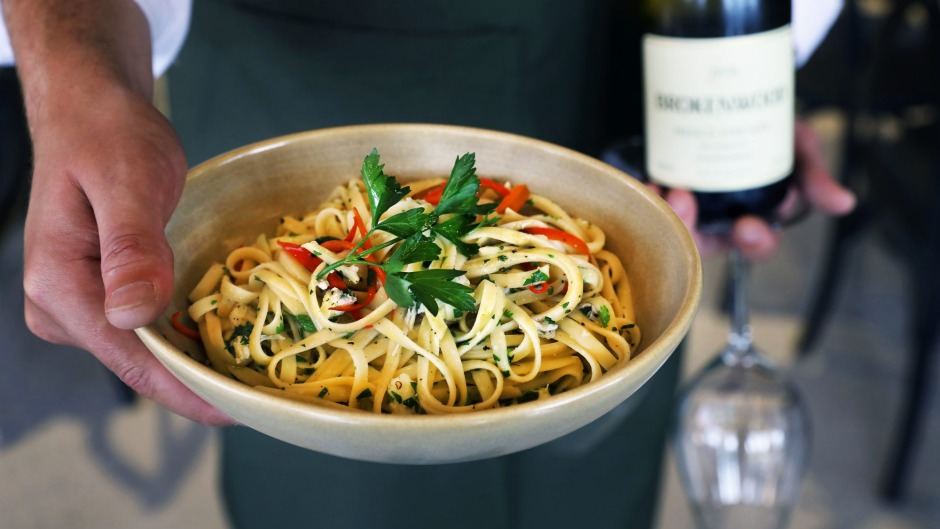 Spanner crab linguini from the Wood Restaurant.