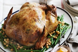 Neil Perry's roast turkey with ricotta stuffing.