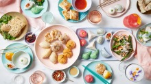 A selection of plant-based yum cha dishes at Bodhi Restaurant.